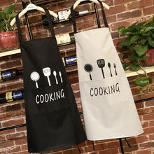 Fashion Nordic Cotton Linen Adjustable Apron Women Bib Christmas Tree Fawn Pattern Restaurant Home Kitchen Cook Tool
