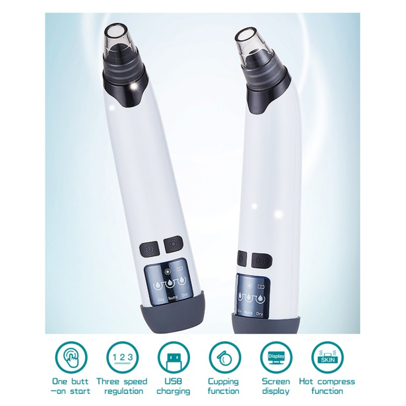 Electric Exfoliating Pore Cleaner Blackhead Vacuum Suction Acne Clean Cleansing Face Beauty Tools U