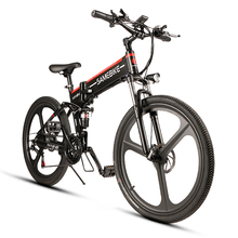 Samebike Folding Electric Bike 26 Inch 48V 350W Motor Power Assist Electric Bicycle Shock Absorbent E-Bike Conjoined Rim Scooter