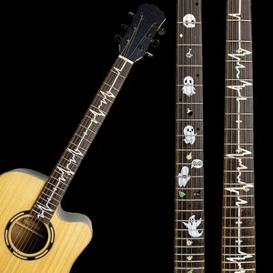 NEW DIY Guitar Fretboard Decals Inlay Sticker Guitar Neck Headstock Guitarra Bass Ukulele Thin Sticker Guitarra Accessories(China)