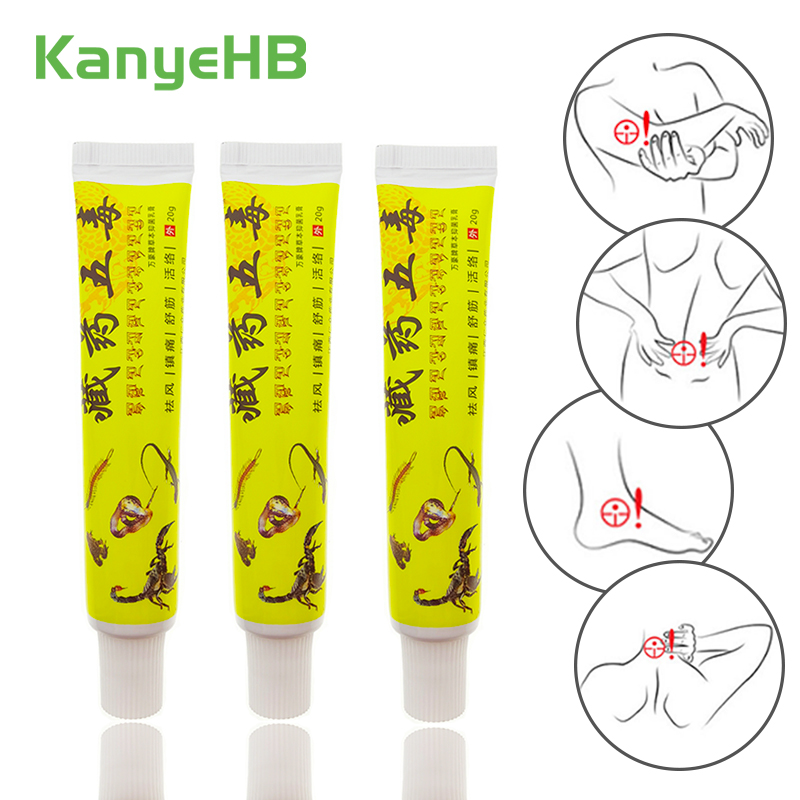 3pcs Medicine Herbal Pain Relieve Cream Suitable Rheumatoid Arthritis Joint Back Muscle Analgesic Balm Pain Relief Ointment A165