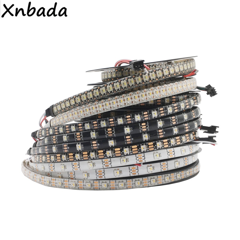 1m/4m/5m DC5V SK6812 RGBW(Similar WS2812B) 4 In 1 30/60/144 Leds/Pixels/m;Individual Addressable Led Strip IP30/IP65/IP67