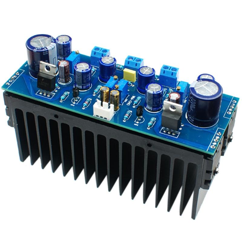 RISE-1969 Npn 2.0 Channel Class a Amplifier Completed Board and Heatsinks