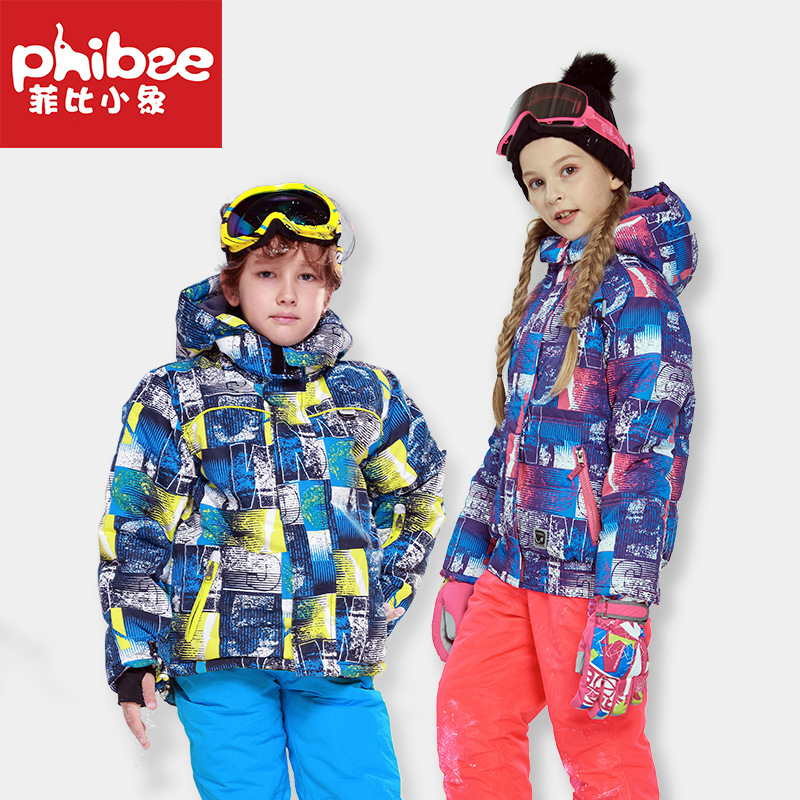 Cross Border Phibee Phoebe Baby Elephant CHILDREN'S Ski Suit WOMEN'S Suit Outdoor Charge Thick Windproof Water A Generation Of F