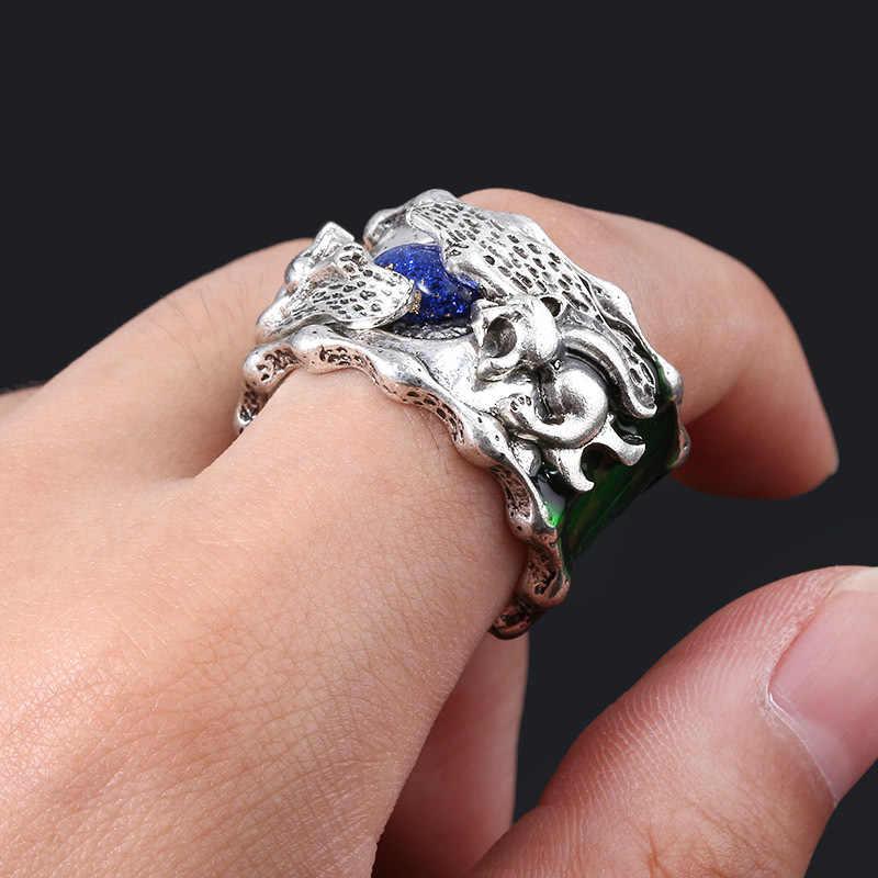 ZXMJ Anime el cielo anillo Cosplay Xiao Yan lucha romper esfera parejas ama anillos Vintage joyería de aleación de dedo para los Fans regalo nuevo