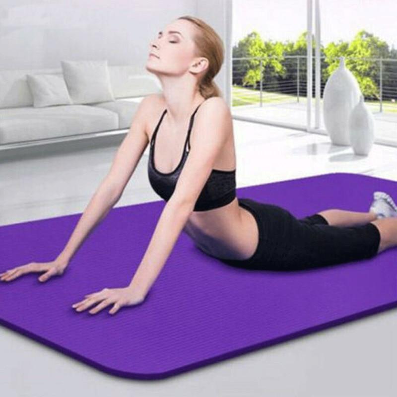 Non Slip Extra Thick Large Foam Yoga Mat Cushion Exercise Gym Fitness Pilates
