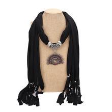 Joker Peacock Alloy Pendant Jewelry Scarf Necklace Four Seasons with Decorative Women Autumn pendant scarf