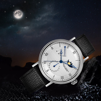 Seagull Men's Watch Moon Phase Watch Male Multifunctional Genuine Waterproof Casual Automatic Mechanical Watch 819.11.6092 2