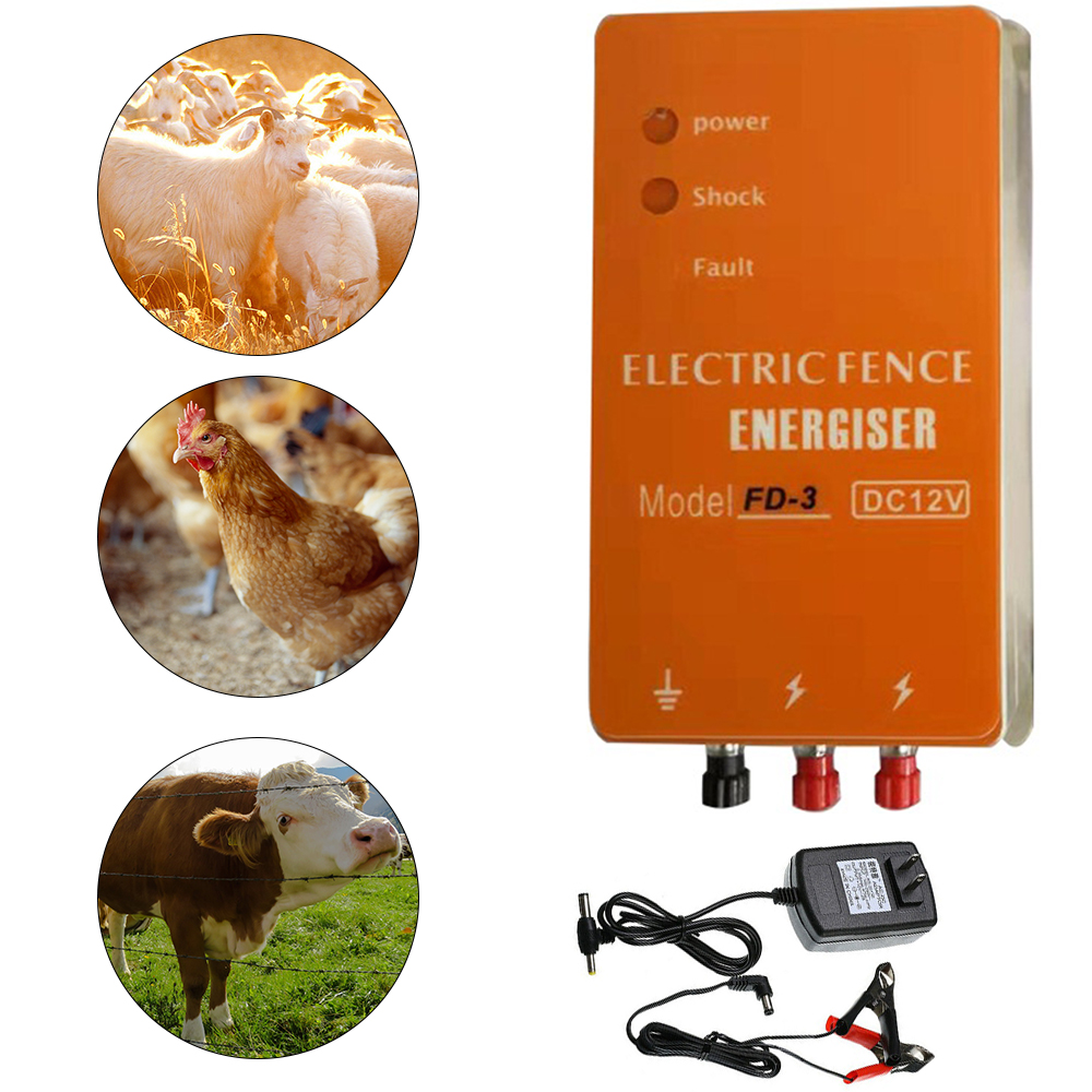 Electric Fence Fence fence energizer  3KM Farming Grid fence fence for Poultry  Livestock  Sheep  Pigs  Horses and Deer 3J 2W 23