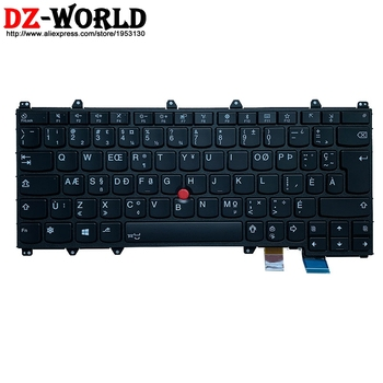 New Original CFA Canadian French Backlit Keyboard for Lenovo Thinkpad Yoga 370 Laptop 01AV676 image