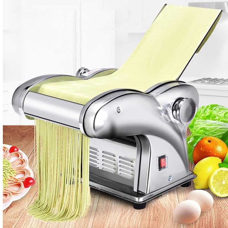 220V Drücken Mehl Maschine Hause Elektrische Nudel Automatische Pasta Maschine Edelstahl Nudel Schneiden Knödel Haut Maschine