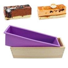 1200ml Rechteck Silikon Seife, Der Form Holz Box Handgemachte Handwerk Seife Mould Toast Kuchen Loaf Mold Backen Küche Werkzeuge