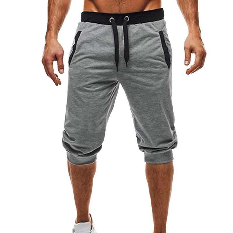 뿌 멘티 우아 신사복 반바지 고품질 슬림 피트 보디 빌딩 남성 패션 로고 없음 짧은 바지 new fitness joggers sweatpants
