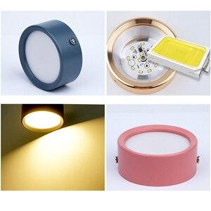 Image 3 - Oberfläche Montiert LED downlight 5W 7W 12W Decke Lampen Ultra Dünne Fahrer cob led spot lichter 220V Decke Leuchten Beleuchtung