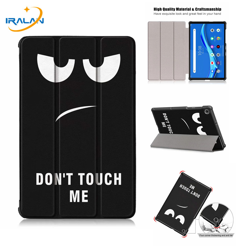 Print Ultra Thin Leather Case Cover For Lenovo Tab M10 FHD Plus TB-X606F TB-X606X Full Body Protective Shell+Tempered Glass Film