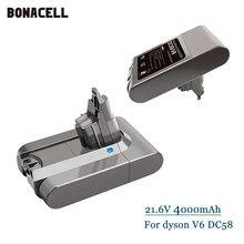 Bateria de Substituição para Dyson V6 SV04 4.0Ah DC58 DC59 DC61 DC62 DC72 DC74 Animal Absoluta SV03 SV04 SV05 SV06 SV07 SV09