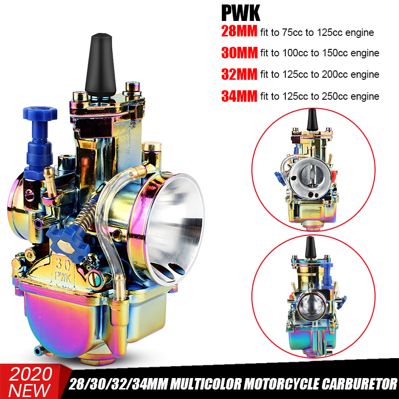 High Quality Universal 28mm 30mm 32mm <font><b>34mm</b></font> Motorcycle Carburetor Carburador 2T 4T <font><b>PWK</b></font> Power Jet For Suzuki for Yamaha for Honda image