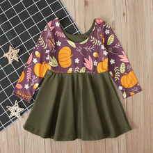 Lovely Pumpkin Printed Tutu For Newborn Toddler Kids Baby Girls Party Pageant Dress Sundress Set Clothes Christmas Halloween