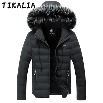 Winter Jacket Men Cotton Padded Parkas Fur Collar Outdoor Jacket Men Thicken Puffer Jacket Fashion Clothing Men Coat Plus Size 1