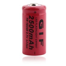 Low Reoccuring Operation Cist No Memory Effect 3.7V 2500mAh TR16340 Li-ion Rechargeable Battery for LED Flashlight