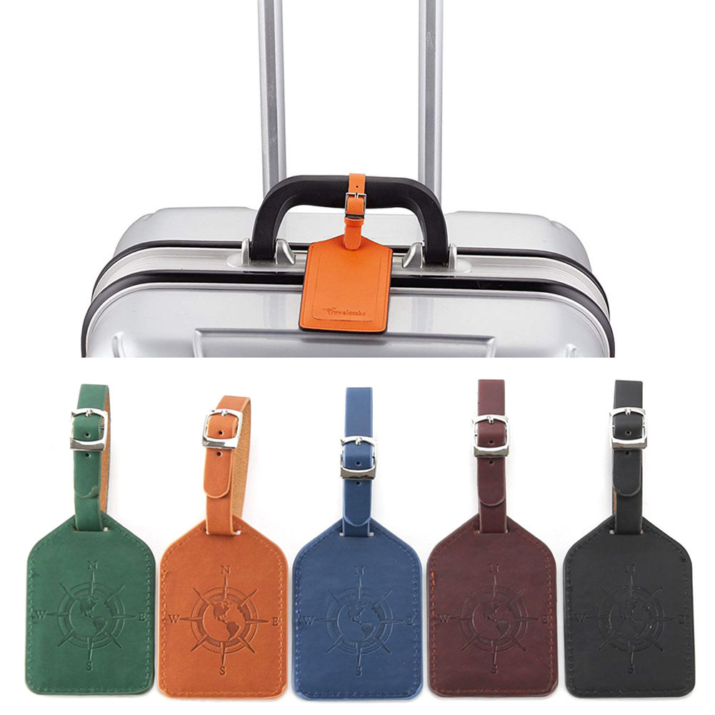 Sales Suitcase Leather Luggage Tag Bag Pendant Handbag Travel Accessories Name ID Address Wedding Invitation Label