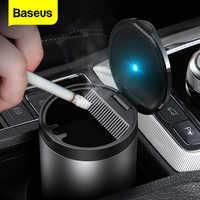 Baseus-Cenicero portátil para automóvil con luz LED, cenicero para coche, Cenicero sin humo, accesorios para coche