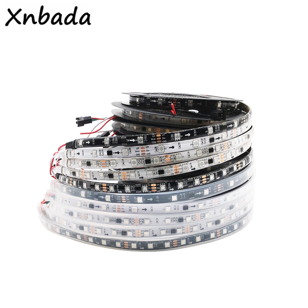 Highlight Led DC12V WS2811 RGB Led Strip Light Addressable 30/48/60Leds/m Led Pixels External 1 IC Control 3Leds