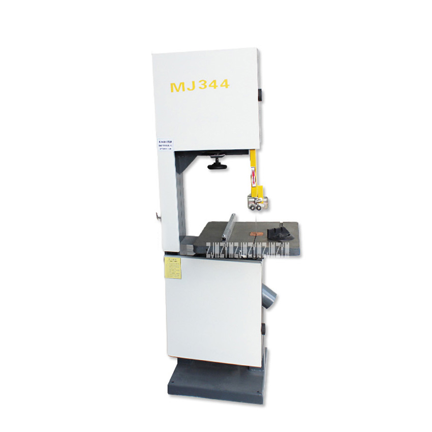 MJ344A Band Saw Machine 16-inch Woodworking Band Saw Household Vertical Wood Cutting Band Sawing Machine 220V/380V 2.2KW