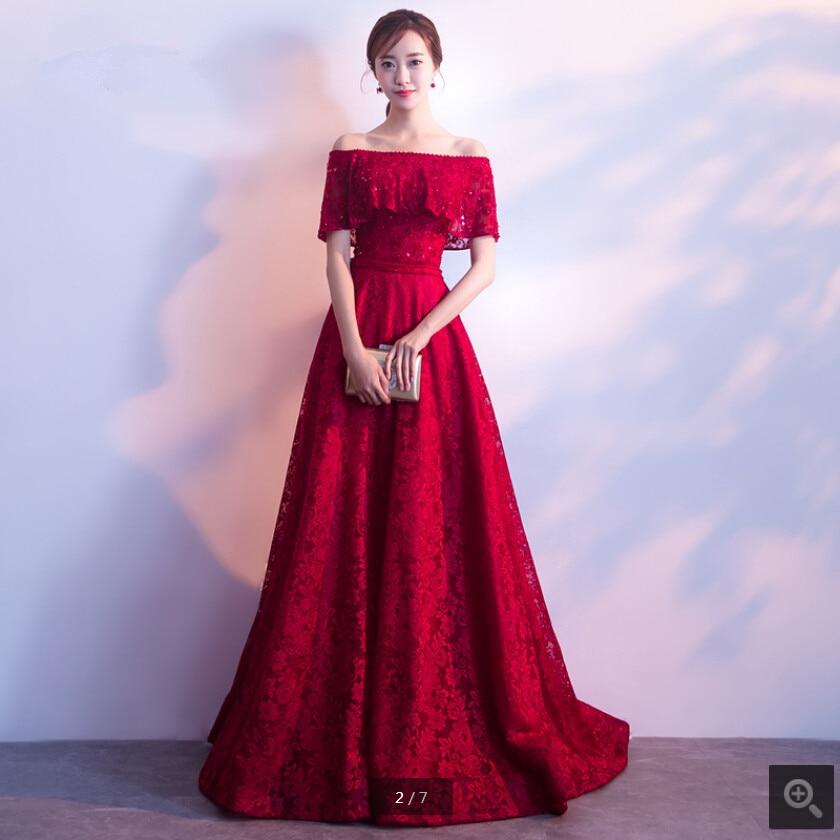 2020 Vestido De Festa Wine Lace A Line Off The Shoulder Evening Dress Beading Sequins Corset Short Se