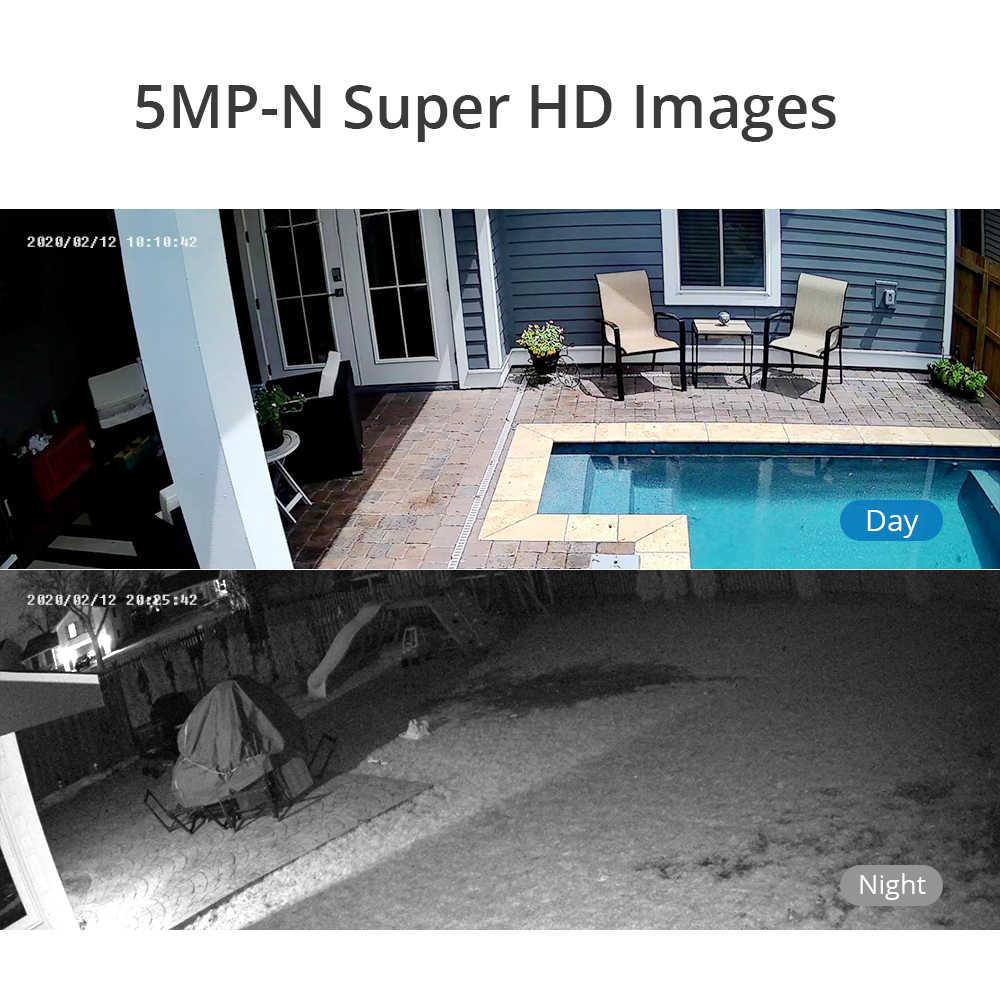 SANNCE 8CH 5MP-N SUPER HD Video SecurityระบบH.264 + DVR 4X 8X 5MP Bulletกล้องวงจรปิดกันน้ำกลางแจ้งกล้องชุดAI DETECTION