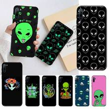 Alien Smoking Weed pattern Phone Cases For Huawei honor Mate P 10 20 30 40 Pro 10i 9 10 20 8 x Lite Luxury brand shell