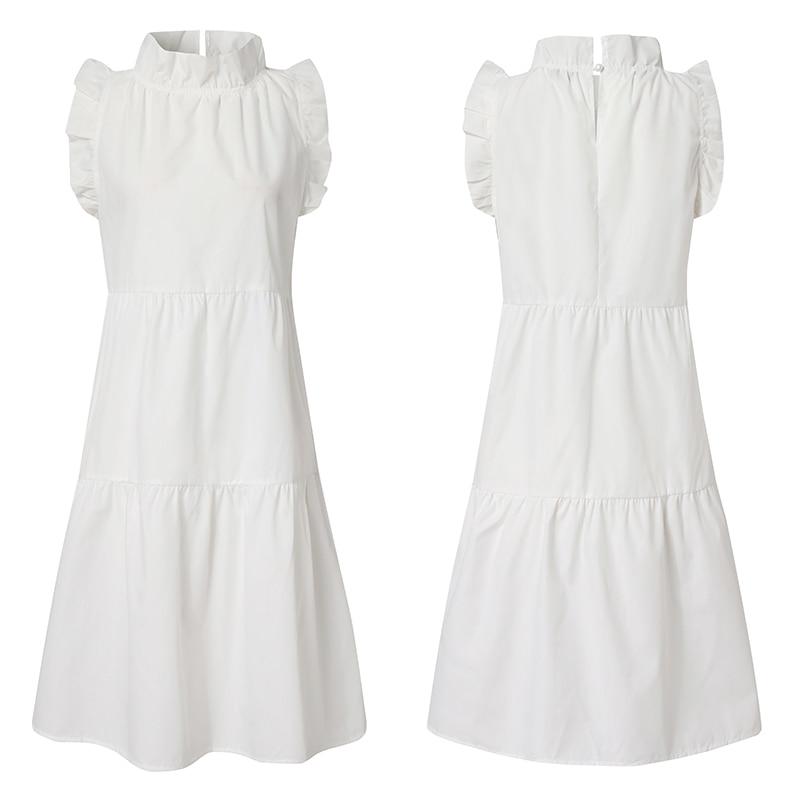 Summer Short Dress Women Sexy Sleeveless Ruffled Dress Beach Holiday Sundress 2021 VONDA Bohemian Vestidos Plus Size Robe Femme 3