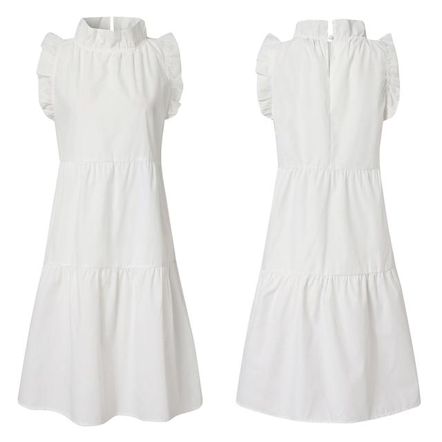 short ruffleneck flirty dress 3