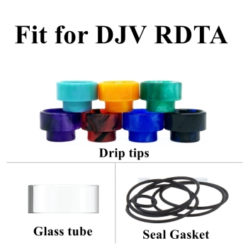 Replacement Pyrex Glass Tube Tank For DJV DEJAVU RDTA RDA Atomizer Glass Drip Tip Seal Gasket O Ring Mech Mod Vape Cap Wick image
