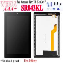 цена на 7.0 For Amazon Fire 7th Gen 2017 7inch SR043KL LCD Display Touch Screen Digitizer Replacement Repair Part + Free Tools