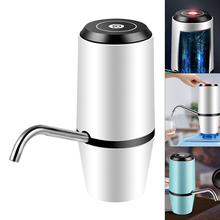 Portable Double Pump Touch Wireless Rechargeable Electric Dispenser Water Pump with USB Cable for 4.5 - 18.9L Barrelled Water цена в Москве и Питере
