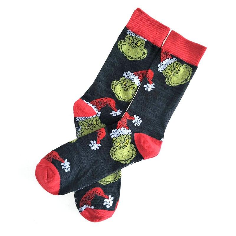 Dr Seuss Christmas Personalized Anime Fashion Funny Novelty Cartoon Men's Socks Comfortable Happy Colorful Cotton Socks
