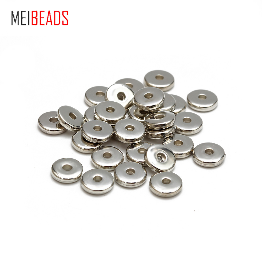 Meibeads 100pcs/lot Round Plastic Spacer Loose Beads For Necklace Bracelet Bead Charms For DIY Accessories Jewelry Making UF7822