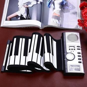 Portable Flexible 61 Keys Silicone MIDI Digital Soft Keyboard Piano Electronic Roll Up