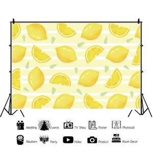 Image 4 - Laeacco פירות חנות לימון עגלת קינוח תינוק מקלחת יילוד צילום רקע צילום תפאורות Photozone תמונה סטודיו