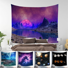 Sunset Scenery Oil Painting Tapestry Art Tapestry Psychedelic Tapestry Beach Towel Polyester Thin Blanket Yoga цена 2017
