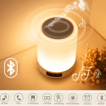 Portable Bluetooth Speaker Touch Pat Light Rechargeable Colorful LED Night Light Bedside Music Table Lamp Holiday Gifts For Girl