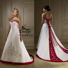 Red And White Wedding Dress Buy Red And White Wedding Dress With Free Shipping On Aliexpress Version
