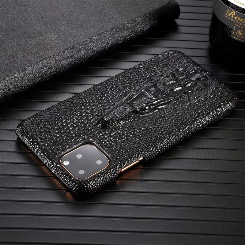 Genuine Leather Cow Hide Stereoscopic 3D Case for iPhone 11/11 Pro/11 Pro Max 8