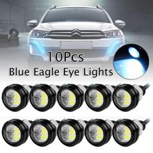 цена на 10 Blue DC 12V 15W Eagle Eye LED Daytime Running DRL Backup Light Car Rock Lamp