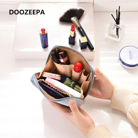 Бархатный органайзер для макияжа doozeepa мягкая сумка помады