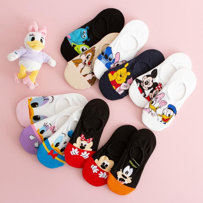 Socks Short Sweat Mickey-Mouse Ankle-Low Anime Girl Cotton Woman Women's Disney Summer