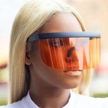 Модные солнцезащитные очки больших размеров в оправе для женщин