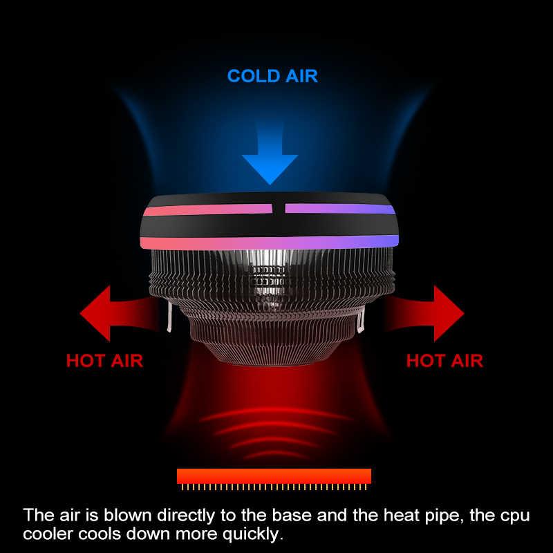 Aigo chłodzenie procesora CPU 120mm PWM 12V synchronizacja RGB wiatrak LED CPU chłodzenie powietrzem chłodnica komputerowa LGA/1151/1155/AM3/AM4 4Pin CPU Cooler