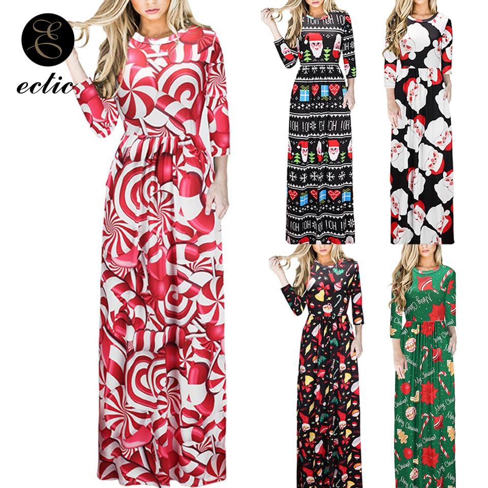 Festival Clothing Empire Waist Dress Sukienka Elegant Long Dress Women Party Night Robe Femme Ete 2019 Candy Cane Dress Print